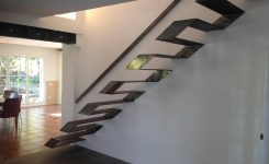 Serpentine metal stairs